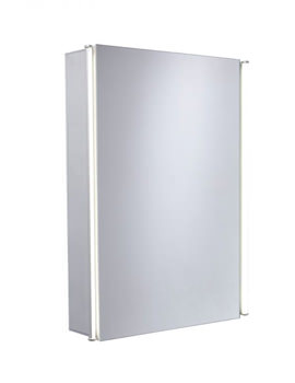 Sleek 440mm Single Mirror Door Cabinet With LED Lighting
