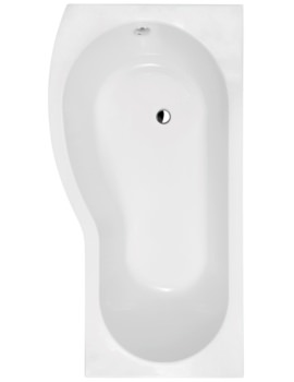 B-Shape Curved Shower Bath 1700 x 900mm Left Hand- BMP1785L