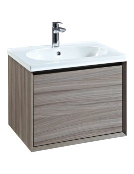 Enzo 610mm Nilo Mounted Vanity Vanity Unit With Ceramic Basin