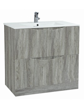 Malmo 900 x 460mm Floor Standing Unit With Basin Avola