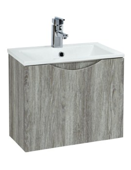 Malmo 400mm Wall Mounted Avola Unit With Basin