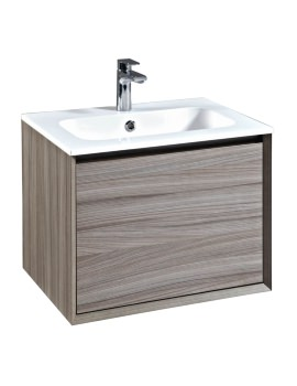 Enzo 610mm Nilo Wall Mounted Vanity Unit And Solid Surface Basin