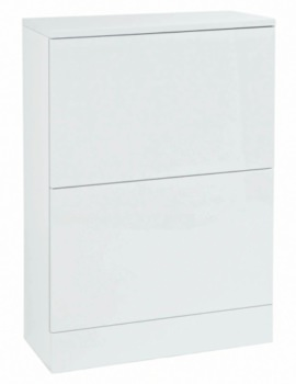 550mm Back To Wall Unit White