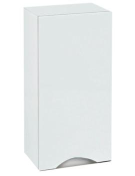 350mm Wall Mounted Storage Unit White