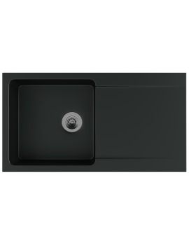 Orion OID 611-94 Tectonite Carbon Black 1.0 Bowl Inset Sink