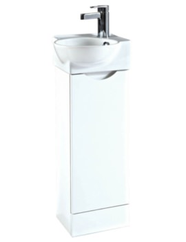 Georgia 350 x 860mm White Unit And Ceramic Basin