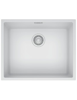 Sirius SID 110 50 Tectonite 1.0 Bowl Polar White Finish Undermount Sink