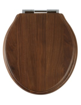 Greenwich Walnut Solid Wood Toilet Seat