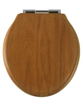 Greenwich Honey Oak Solid Wood Toilet Seat