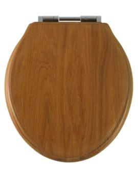 Greenwich Honey Oak Solid Wood Toilet Seat