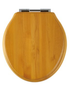 Greenwich Antique Pine Solid Wood Toilet Seat