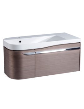 Roper Rhodes Cirrus 900mm Fine Line Grey Unit With Basin Left Hand