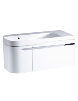 Cirrus 900mm Gloss White Unit With Basin Left Hand