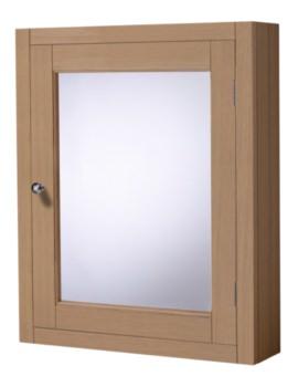 Hampton Natural Oak 565mm Mirror Cabinet