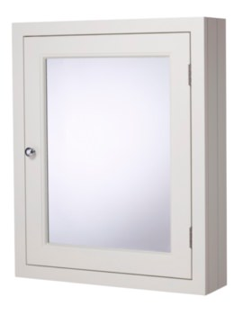 Hampton Chalk White 565mm Mirror Cabinet