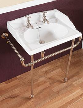 Silverdale Victorian Classic Basin With Heated Towel Rail Incalux