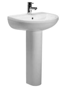 Minerva 540mm Basin With Full Pedestal