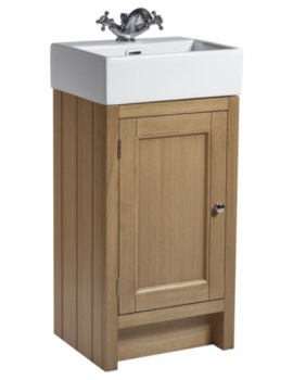 Hampton 420mm Natural Oak Cloakroom Unit With Basin