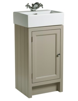 Hampton 420mm Mocha Cloakroom Unit With Basin