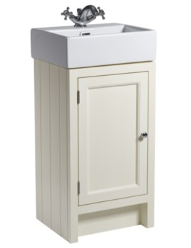 Hampton 420mm Vanilla Cloakroom Unit With Basin