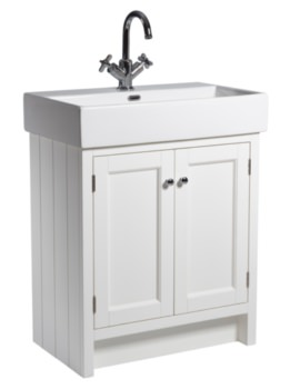 Hampton 700mm Chalk White Vanity Unit With Basin