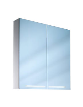 Graceline 2 Door Mirror Cabinet With LED Light - More Sizes Available
