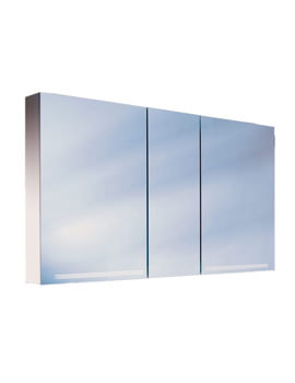 Graceline 3 Door Mirror Cabinet With LED Light - More Sizes Available