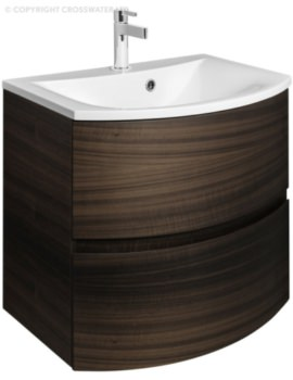 Svelte 600mm Eucalyptus Wall Hung Vanity Unit And Basin