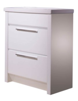 Kato 700mm White Freestanding Vanity Unit With Basin