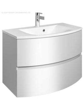 Bauhaus Svelte 800mm Wall Hung Vanity Unit White Gloss And Basin - SE8000DWG SE0811SRW