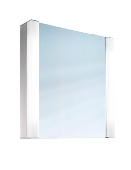 Pepline 1 Door Mirror Cabinet 600mm