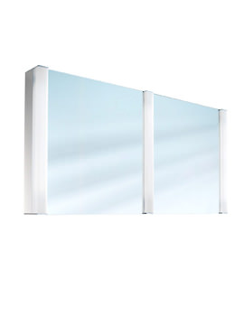 Pepline 2 Door Mirror Cabinet 1300mm