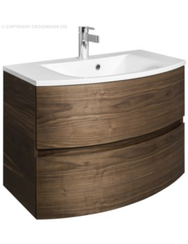Bauhaus Svelte 800mm American Walnut Wall Hung Vanity Unit And Basin