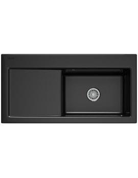 Mythos MTK 611 Ceramic Black 1.0 Bowl Kitchen Inset Sink
