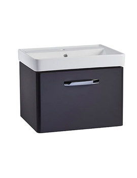 Tavistock Compass 600mm Wall Hung Vanity Unit And Basin Gloss Clay