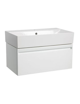 Forum 700mm Wall Hung Vanity Unit And Basin Gloss White