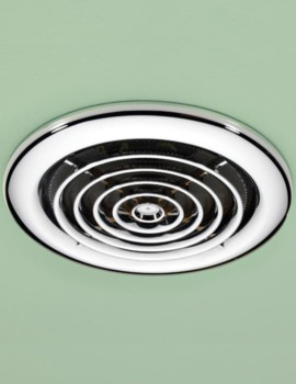 Cyclone Wet Room Inline Chrome Extractor Fan - 33400
