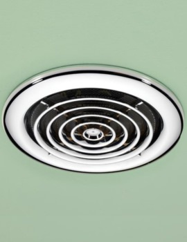 Turbo Bathroom Inline Chrome Extractor Fan