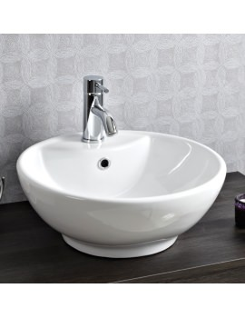 460mm White Round Counter Top Basin