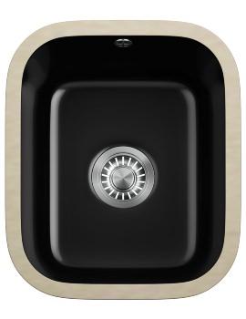 V And B VBK 110 33 Ceramic Black 1.0 Bowl Undermount Kitchen Sink