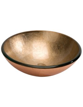 Lavabo 420mm Round Countertop Copper Basin