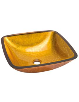 Lavabo 425mm Square Countertop Orange Basin