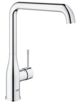 Essence Plus Single Lever L-Spout Sink Mixer Tap Chrome