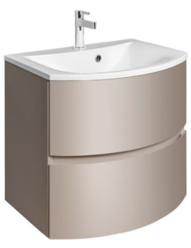Bauhaus Svelte 600mm Matt Coffee Wall Hung Vanity Unit And Basin