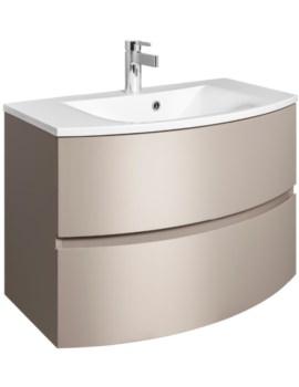 Bauhaus Svelte 800mm Matt Coffee Wall Hung Vanity Unit And Basin