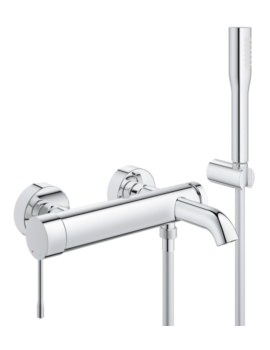 Essence New Wall Mount Bath Shower Mixer Tap With Kit