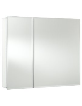 Halton Bi-View Aluminium Mirror Cabinet 762 X 660mm