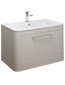 Celeste 800mm Pebble Single Drawer Vanity Unit