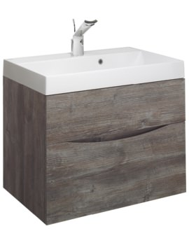 Glide II 700mm Double Drawer Vanity Unit Driftwood
