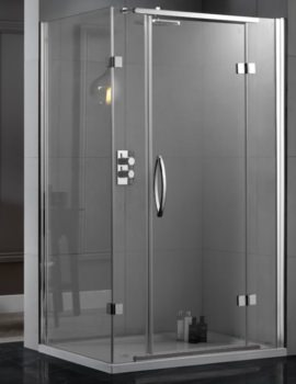 Aquadart Inline 2 Sided Hinged Door Shower Enclosure 1200 x 800mm